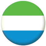 Sierra Leone Country Flag 58mm Button Badge